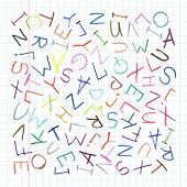 Children pencil ABC background