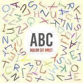 Children pencil ABC frame