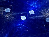 Blue Squares And New Technologies