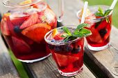 stock photo of refreshing  - Refreshing sangria  - JPG