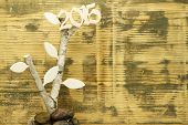 Background with wooden 2015