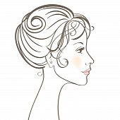 Beauty women face vector illustration