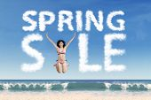Beautiful Model Forming Spring Sale Text