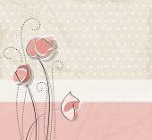 Soft pink vintage flower background