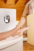 picture of wet feet  - Bathtime - JPG