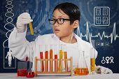 Chemist Doing Experiment With Chemical Fluid