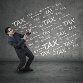 Expressive Businessperson Having Tax Problems