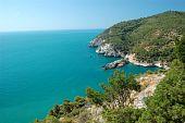 Summer Coastline Landscape, Gargano, Apulia, Italy