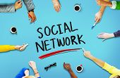 Social Network Media Internet Online People Sharing Concept