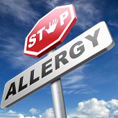 image of reaction  - Allergy stop allergies and allergic reactions hypersensitivity disorder of the immune system  asthma attack caused by food or pollen hay fever - JPG