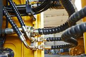 picture of machinery  - Hydraulic pressure pipes system of construction machinery - JPG