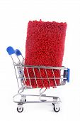 shopping trolley with carpet