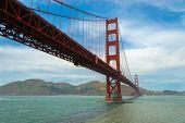The famous Golden Gate Bridge in San Francisco California, USA