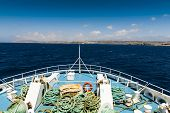 picture of gozo  - Ferryboat travelling to Gozo on a summer day - JPG