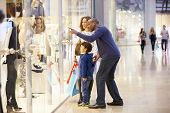 image of mall  - Child On Trip To Shopping Mall With Parents - JPG