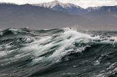 stock photo of sakhalin  - a storm at sea near the island of Sakhalin - JPG