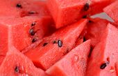 pic of watermelon slices  - Slices of ripe red watermelon for background - JPG
