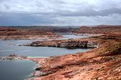 picture of dam  - Glen Canyon dam on the colorado river and lake powell - JPG