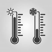 foto of fahrenheit thermometer  - The thermometer icon - JPG