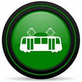foto of tram  - tram green icon public transport sign - JPG