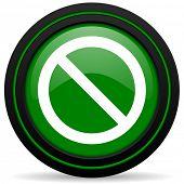 stock photo of denied  - access denied green icon  - JPG