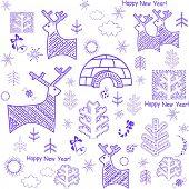 pic of igloo  - New years wallpaper with reindeer and igloo - JPG