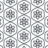 pic of primitive  - Primitive simple retro seamless pattern with blossom - JPG