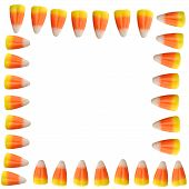 Halloween Candy Corn Border Background
