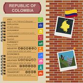 stock photo of colombian currency  - Colombia infographics - JPG