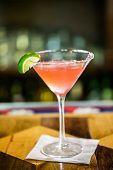 stock photo of cosmopolitan  - Pink cosmopolitan cocktail prepared at the bar - JPG