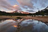 stock photo of kangaroo  - Kangaroo Ridge Sunset Okanogan National Forest Washington State - JPG