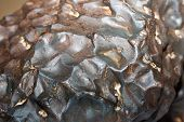 image of meteorite  - iron metal melted meteorite texture background close - JPG