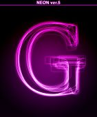 Glowing neon letter G