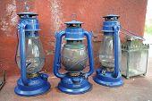 antique oil lamp