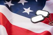 military forces, military service, patriotism and nationalism concept - close up of american flag an poster