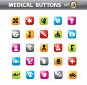 Conjunto de vectores de iconos médicos.