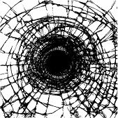 foto of gunshot  - Illustration of a broken glass - JPG