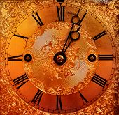 beautiful gold clock face