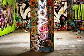 Amazing Urban location filled with graffiti