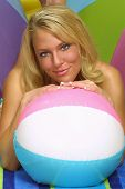 Message Ball With Blonde Babe