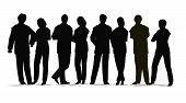 pic of person silhouette  - black silhouette of the business people crowd - JPG
