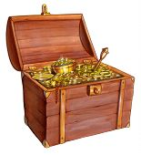 image of sceptre  - Open treasure chest - JPG