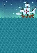 Segelboot-Hintergrund