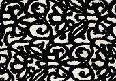 Pattern Of Retro Black And White Ornate Fabric