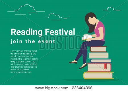 Reading Festival Concept Vector Illustration