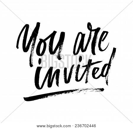 You Are Invited Brush Lettering
