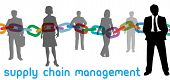Enterprise SCM manager and outsourcing supply chain management business people