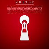 Keyhole Icon Isolated On Red Background. Key Of Success Solution, Business Concept. Keyhole Express  poster