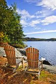 Adirondack Chairs am Seeufer