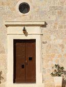 Quaint Medieval Chapel Door poster